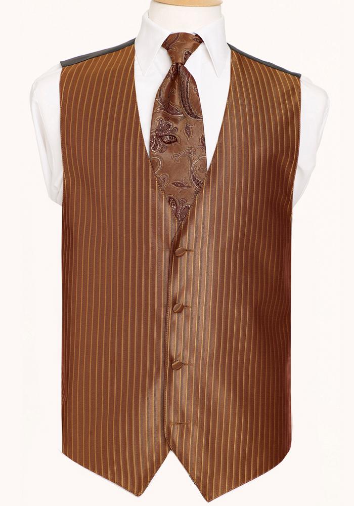 Cinnamon 'Lido Herringbone' Vest by Black Gold