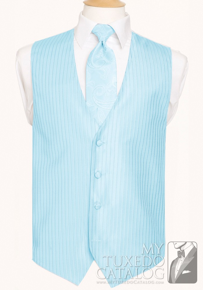 Tiffany Blue Lido Herringbone Vest Vests Mytuxedocatalogcom