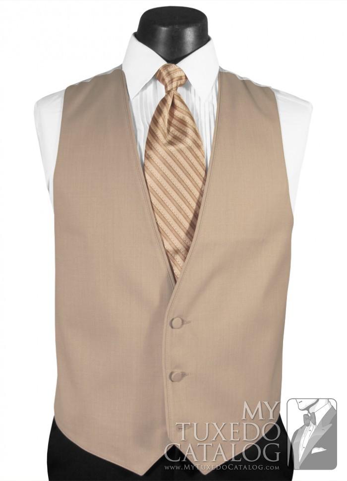 What Color Shirt With Black Suit >> Tan Suit Vest | Vests | MyTuxedoCatalog.com