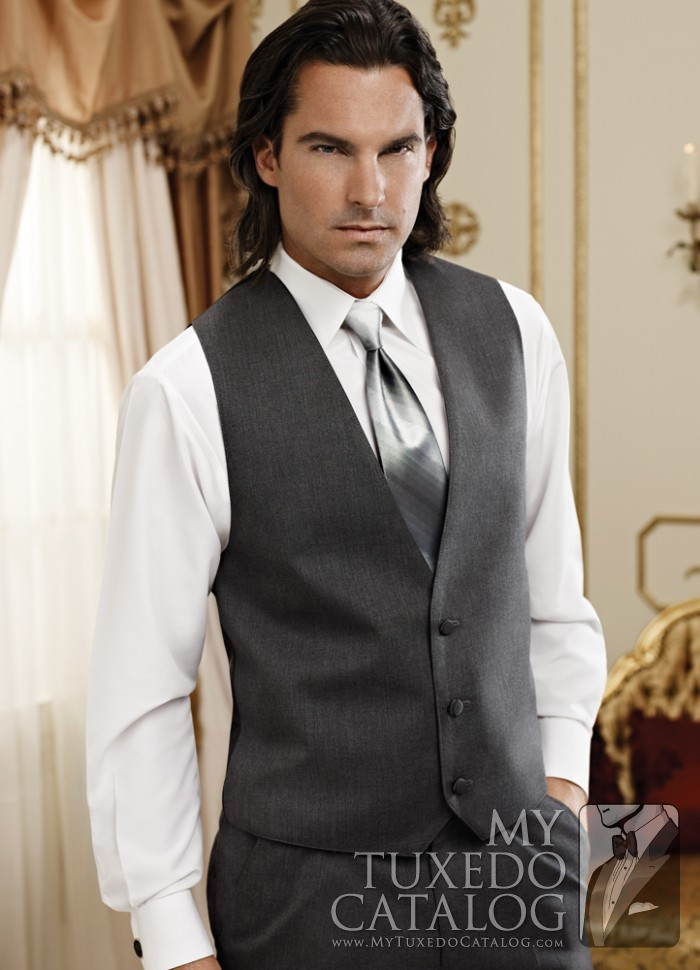 Steel Grey Suit Vest | Vests | MyTuxedoCatalog.com
