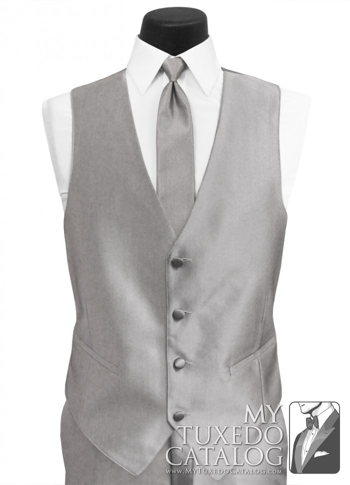 Silver Swagger Tuxedo Vest Vests Mytuxedocatalog Com