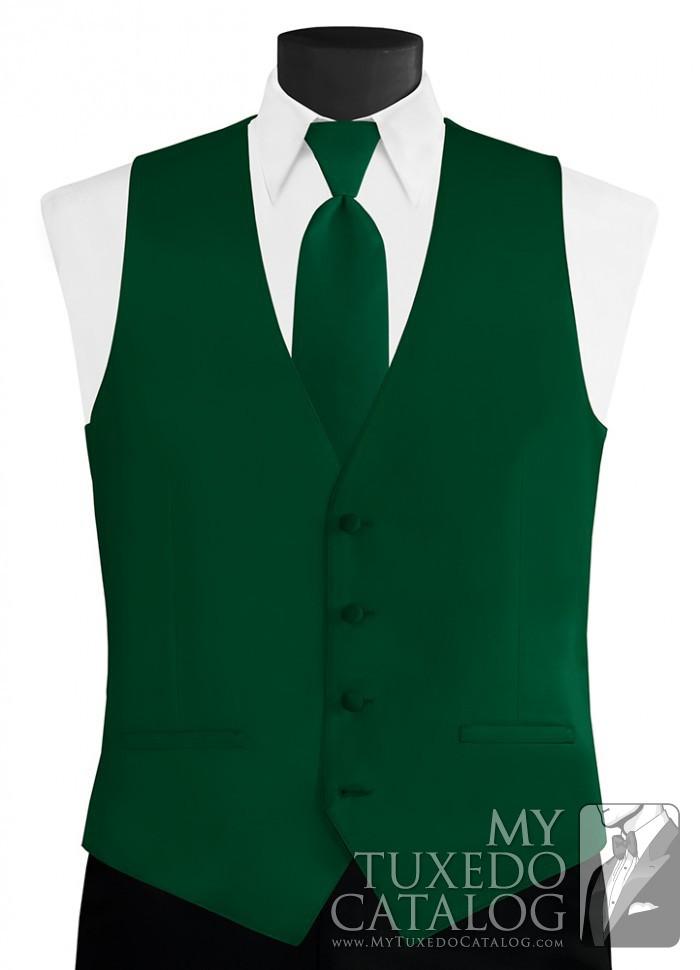 Emerald Modern Solid Vest Vests Mytuxedocatalog Com