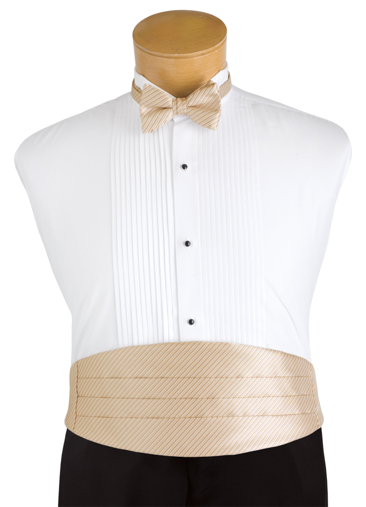 Champagne Tan 'Synergy' Cummerbund and Bow Tie