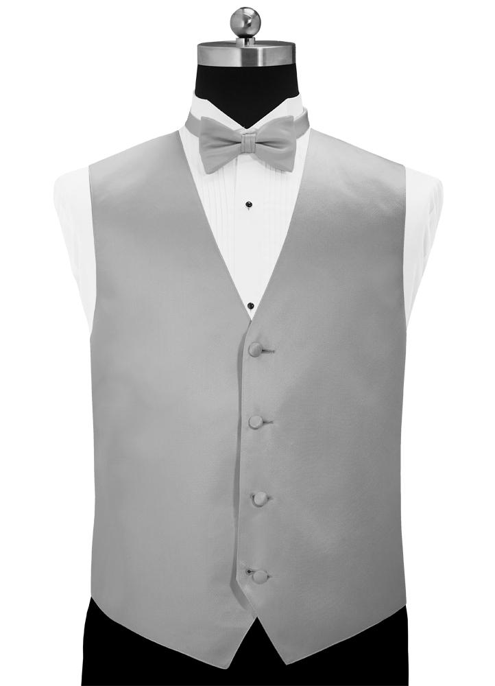 Platinum 'Simply Solid' Tuxedo Vest