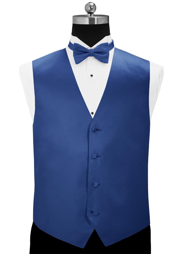 Marine Blue 'Simply Solid' Tuxedo Vest