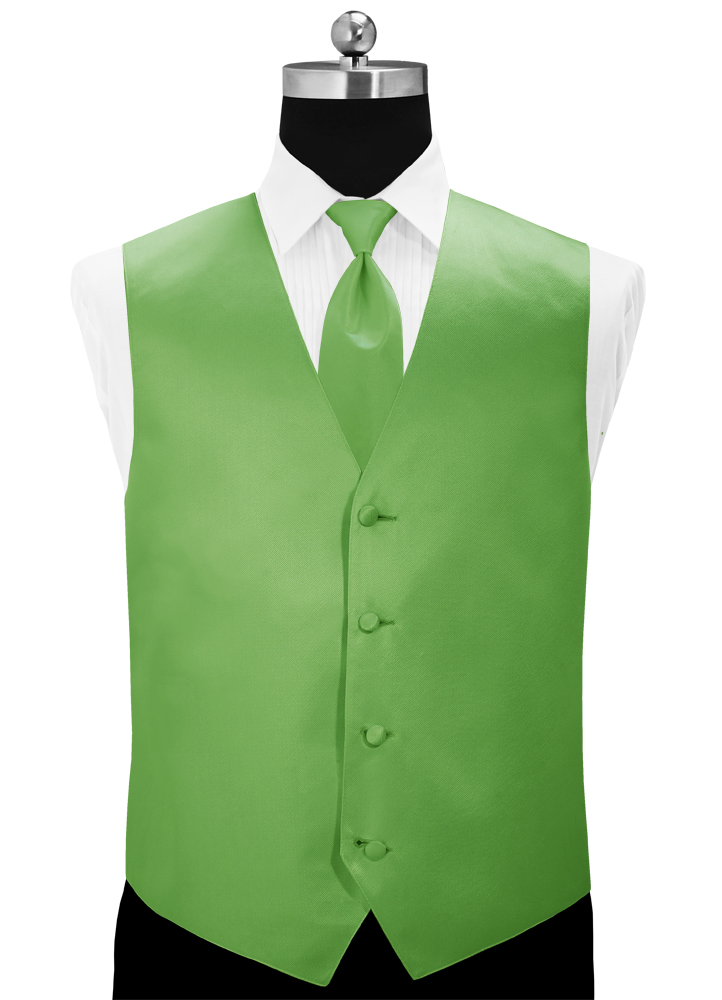 Kelly Green 'Simply Solid' Tuxedo Vest