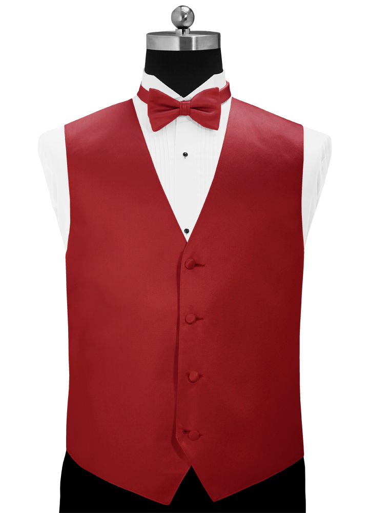Ruby Red 'Simply Solid' Tuxedo Vest