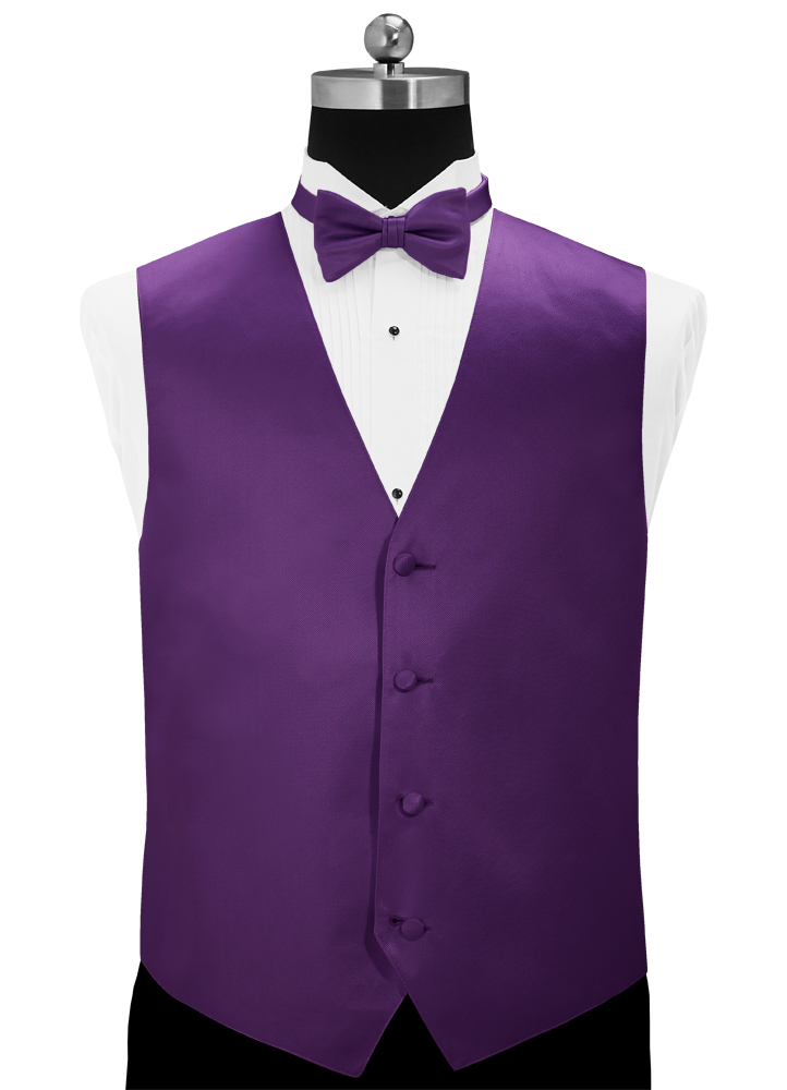Purple 'Simply Solid' Vest by Larr Brio