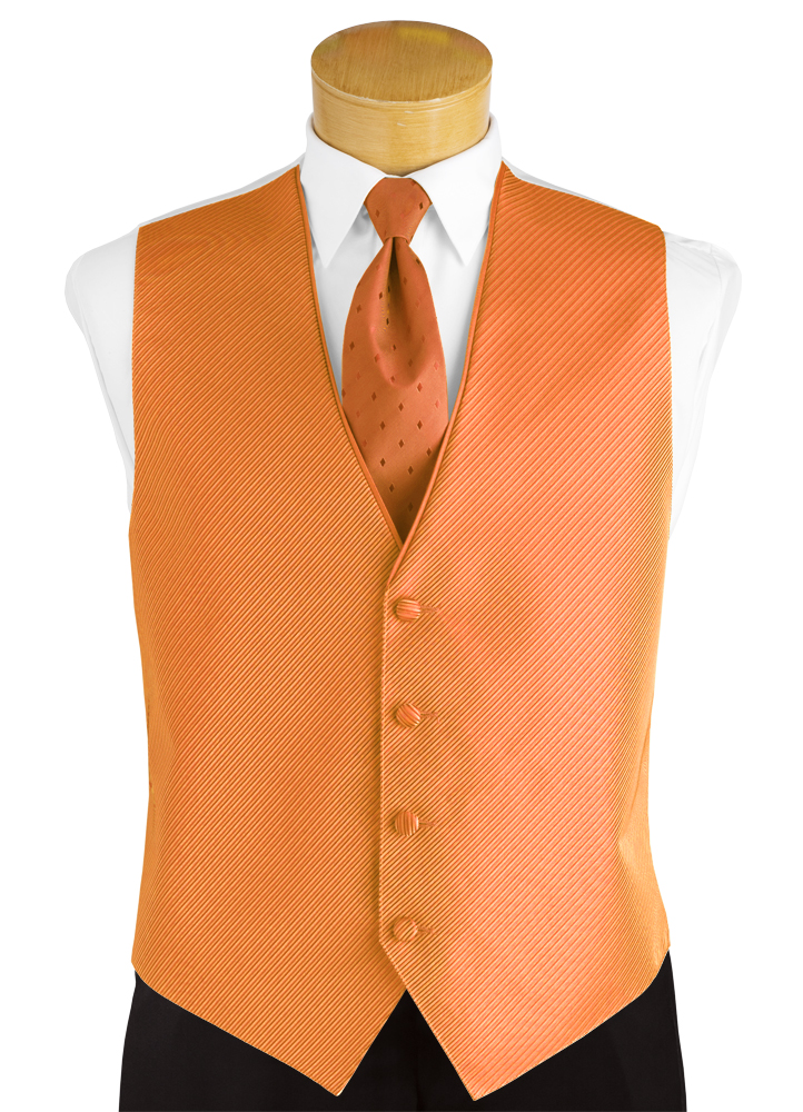 Orange Crush 'Synergy' Vest and Diamond Long Tie