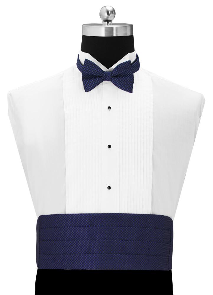 Royal Blue 'Vertical' Cummerbund