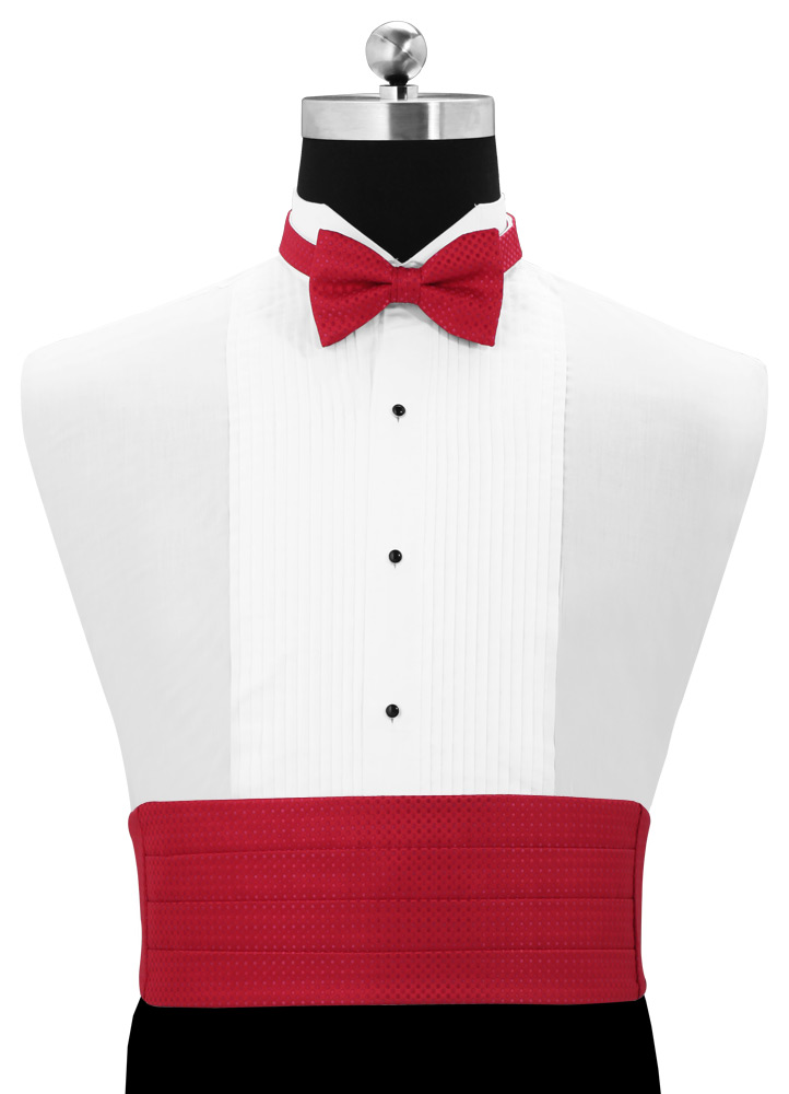 Strawberry 'Vertical' Dot Cummerbund