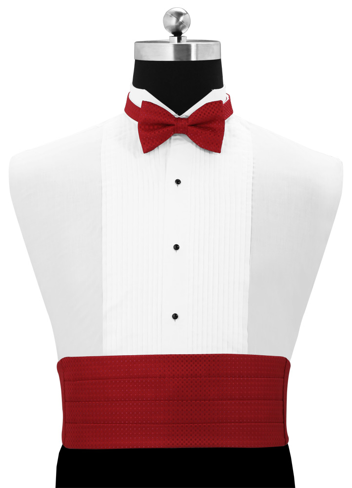 Apple Red 'Vertical' Cummerbund