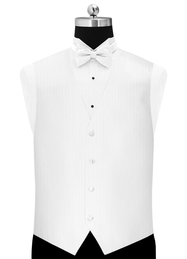 White 'Vertical' Tuxedo Vest