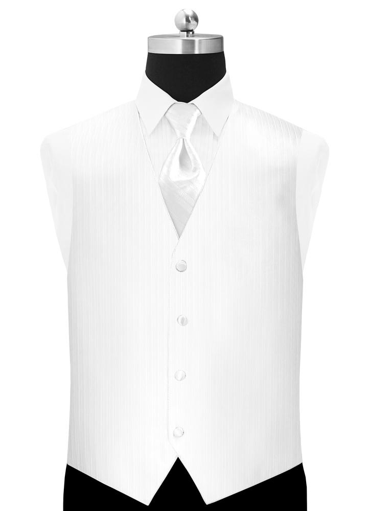 White 'Vertical' Vest by Larr Brio