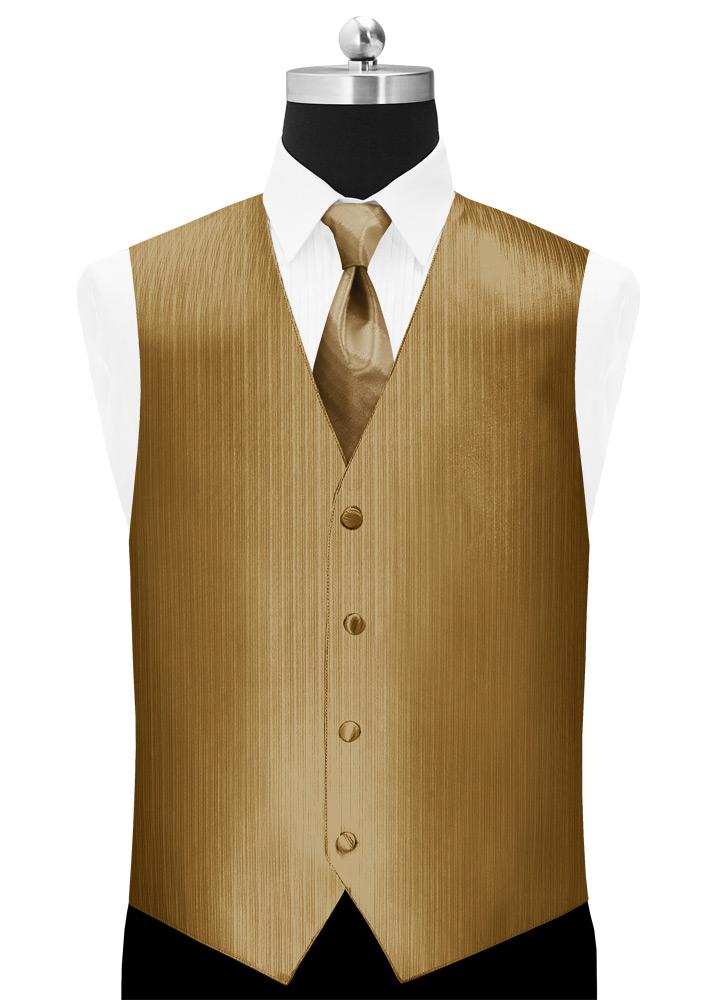 Bronze 'Vertical' Vest by Larr Brio