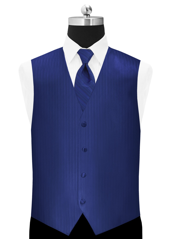 Royal Blue 'Vertical' Vest