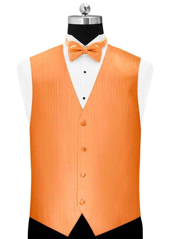 Tangerine 'Vertical' Tuxedo Vest