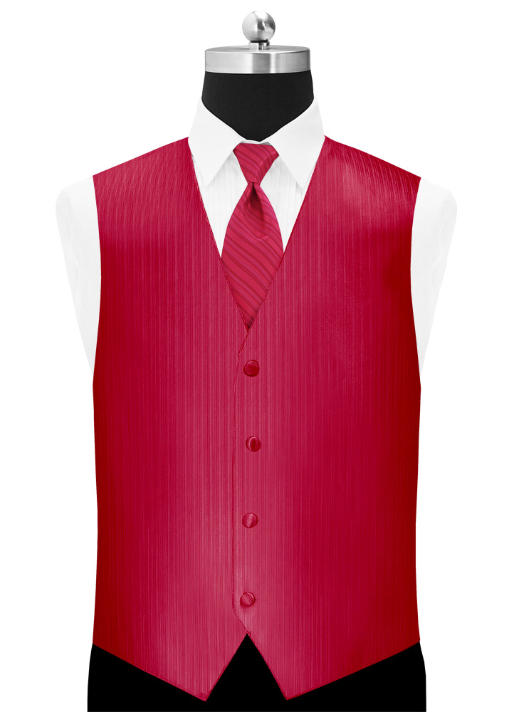 Strawberry 'Vertical' Tuxedo Vest