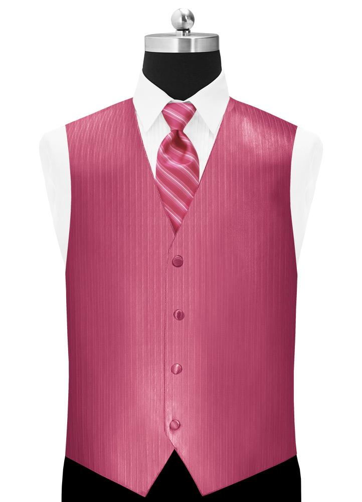 Bright Fuchsia 'Vertical' Tuxedo Vest