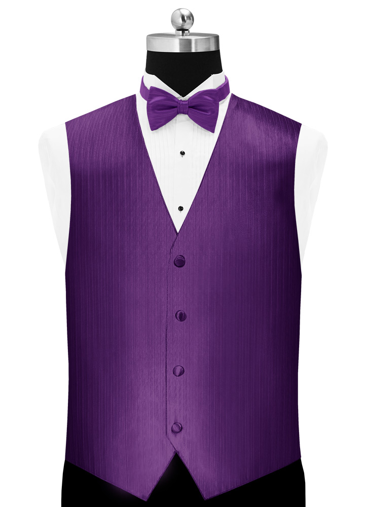 Purple 'Vertical' Tuxedo Vest