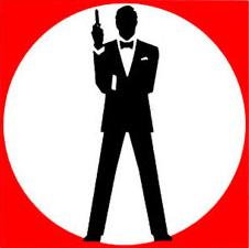 Tuxedo and Handgun 007 Logo